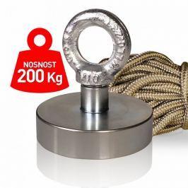 Supermagnet 200 kg - set s lanem