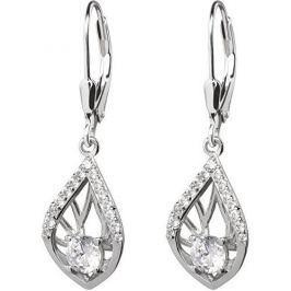 Preciosa Náušnice s krystaly Touch of Elegance 5216 00 stříbro 925/1000