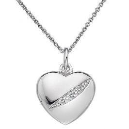 Hot Diamonds Stříbrný náhrdelník Hot Diamonds Shooting Stars Heart DP398 stříbro 925/1000