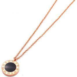 Troli Růžově pozlacený náhrdelník s oboustranným přívěskem