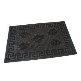 FLOMAT Gumová vstupní kartáčová rohož Leaves - Rectangle - 60 x 40 x 0,6 cm