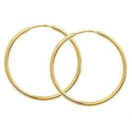 Brilio Zlaté náušnice kruhy 231 001 00428 - 1,50 g zlato žluté 585/1000