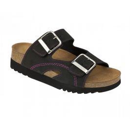 Scholl Zdravotní obuv MOLDAVA WEDGE AD - černá/fuchsiová (Velikost vel. 40)