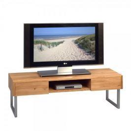 Artenat TV stolek se zásuvkami Tessa, 120 cm, masiv/nerez