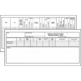Záznam o provozu vozidla nákladní dopravy 1/3 A3, kopie, blok 100 L