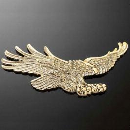 Highway-Hawk emblém samolepící,  EAGLE 110x55mm (orel), mosaz