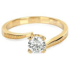 Brilio Zlatý zásnubní prsten s krystalem 226 001 01023 - 2,10 g (Obvod 56 mm) zlato žluté 585/1000