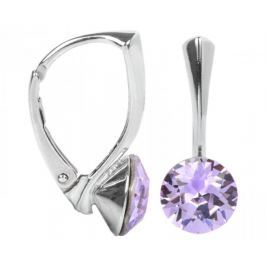 Troli Stříbrné náušnice Xirius Violet stříbro 925/1000
