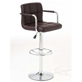 BHM Germany Barová židle Lucida (SET 2 ks), hnědá