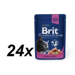 Brit Premium Cat Pouches with Salmon & Trout 24 x 100g
