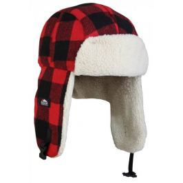 Eiger Čepice Fleece Korean Hat Red Black S/M
