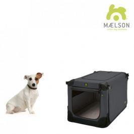 Maelson Přepravka Soft Kennel s popruhy černá / antracitová vel. 52 - II. jakost