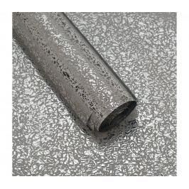 Luxusní strukturovaný balicí papír, stříbrný, lesklý, 5 archů