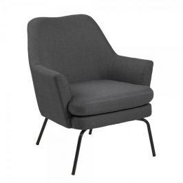 Design Scandinavia Relaxační křeslo Rika, tmavě šedá