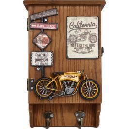 Sifcon Skříňka na klíče, motocykl žlutý