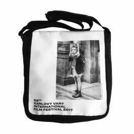 MFF Karlovy Vary unisex černá taška s bílou klopou UNI