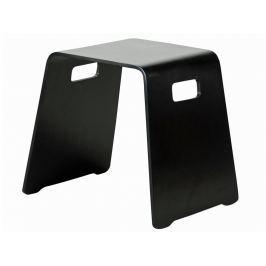 Danish Style Stolička / židle bez opěradla Benny (SET 4 ks), černá