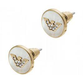 Emporio Armani Luxusní pozlacené náušnice pecky EGS2354710