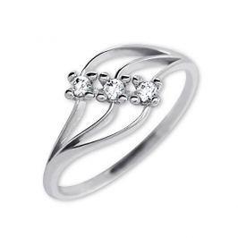 Brilio Dámský prsten s krystaly 229 001 00546 07 - 1,30 g (Obvod 50 mm) zlato bílé 585/1000