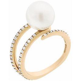 Michael Kors Dámský prsten s korálkem a krystaly MKJ6313710 (Obvod 57 mm)