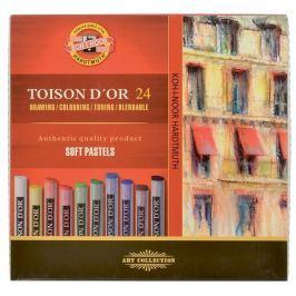 Křída suchá umělecká kulatá 8514/24 Toison d´Or v papír. krabičce