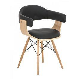 BHM Germany Jídelní / jednací židle dřevěná Dancer (SET 2 ks), černá