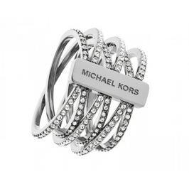 Michael Kors Dámský ocelový prsten s krystaly MKJ4423040 (Obvod 54 mm)