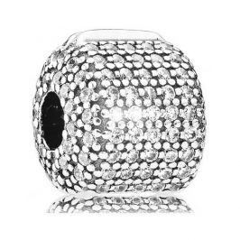 Pandora Luxusní klip osazený krystaly 791873CZ stříbro 925/1000
