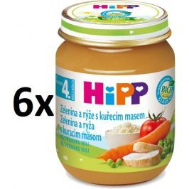 HiPP Zelenina a rýže s kuřecím masem - 6x125g