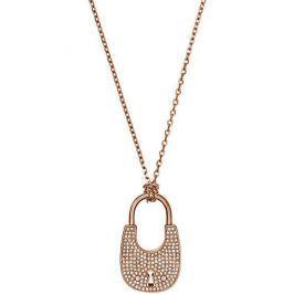 Michael Kors Dlouhý bronzový náhrdelník se zámkem MKJ4894791