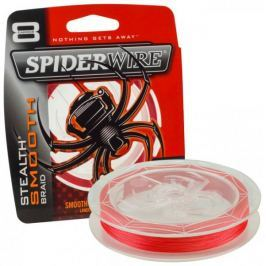 Spiderwire Spiderware Splétaná šňůra Stealth Smooth 8 150 m červená 0,06 mm, 6,6 kg