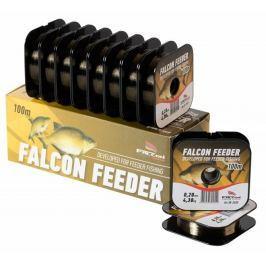 Falcon Vlasec Feeder Tmavě Hnědá 100 m 0,18 mm, 3,85 kg