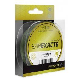 FIN Splétaná šňůra Exact 8 Zelená 1250 m 0,14 mm, 11,3 kg
