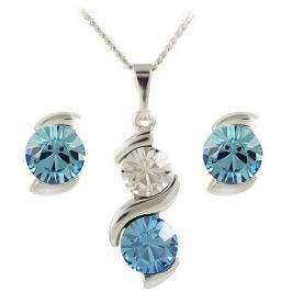 MHM Souprava šperků Sisi Aquamarine 34176 stříbro 925/1000