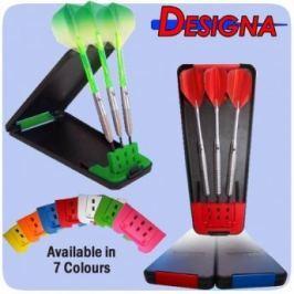 Designa Pouzdro na šipky Delta Solid Case - Black Red