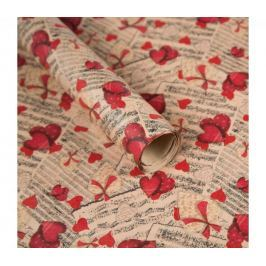 Balicí papír, noty a srdce, 5 archů