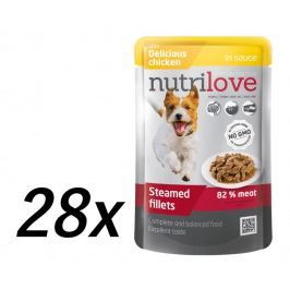 Nutrilove Dog pouch NMP, gravy CHICKEN 28 x 85g