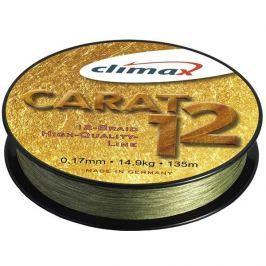 Climax Splétaná Šňůra Carat 12 Oliva 135 m 0,13 mm, 9,5 kg