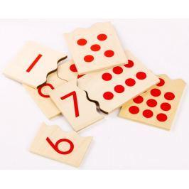 Montessori pomůcky Čísla a puntíky - puzzle - II. jakost