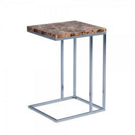 Artenat Odkládací stolek Ragnar, 43 cm, tm. mramor/chrom