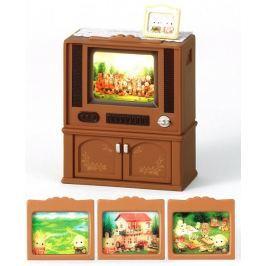 Sylvanian Families Nábytek skříňka s barevnou televizí