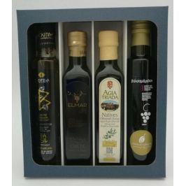 To nejlepší z Kréty - dárková sada olivových olejů a balsamikového octa s tymiánovým medem