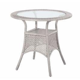 Dimenza Kulatý ratanový stolek BERLIN ø76 cm - šedý