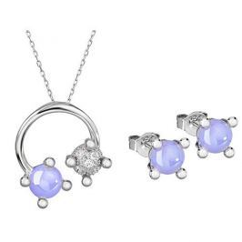 Preciosa Souprava šperků Blossoms-set Violet 5231 56 stříbro 925/1000