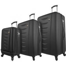 Mia Toro M1014/3 Sada cestovních kufrů, černá
