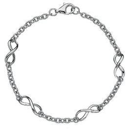 Hot Diamonds Stříbrný náramek s diamantem Infinity DL293 stříbro 925/1000