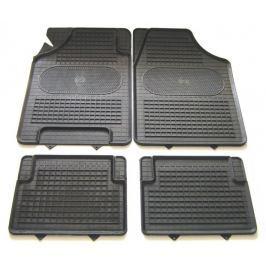 POLGUM Gumové koberce, univerzální, sada 4 ks, černé, rozměry 69,5 x 49,5 a 34,5 x 44 cm