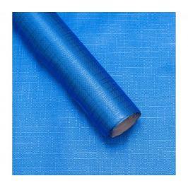Luxusní strukturovaný balicí papír, modrý, vzor křížky, 5 archů