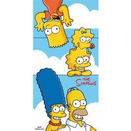 Jerry Fabrics Dětská osuška The Simpsons family CLOUDS 70x140 cm