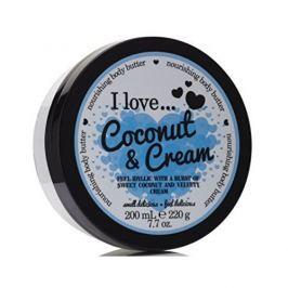 I Love Cosmetics Vyživující tělové máslo s vůní kokosu a jemného krému (Coconut & Cream Nourishing Body Butter) 200 m